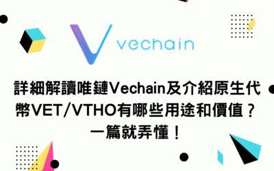 詳細解讀唯鏈Vechain及介紹原生代幣VET/VTHO有哪些用途和價值?一篇就弄懂!